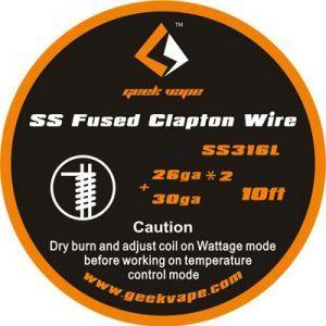 Filo Resistivo 10ft GeekVape Kanthal A1 Flat Clapton +32GA Ribbon 26GAx18GA